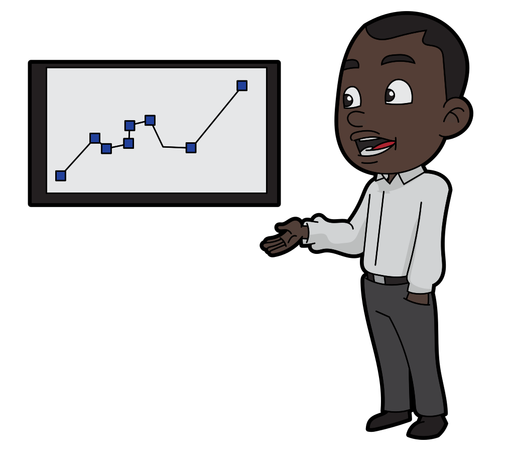 https://commons.wikimedia.org/wiki/File:Cartoon_Black_Man_Talking_And_Presenting_A_Performance_Graph.svg